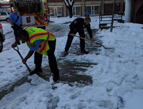 RAA helps residents by clearing snow filled sidewalk