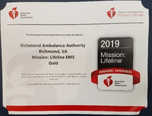 Richmond Ambulance Authority Wins Mission: Lifeline EMS Gold Award