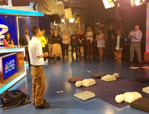 RAA and AHA lead NBC12 CPR and AED Training